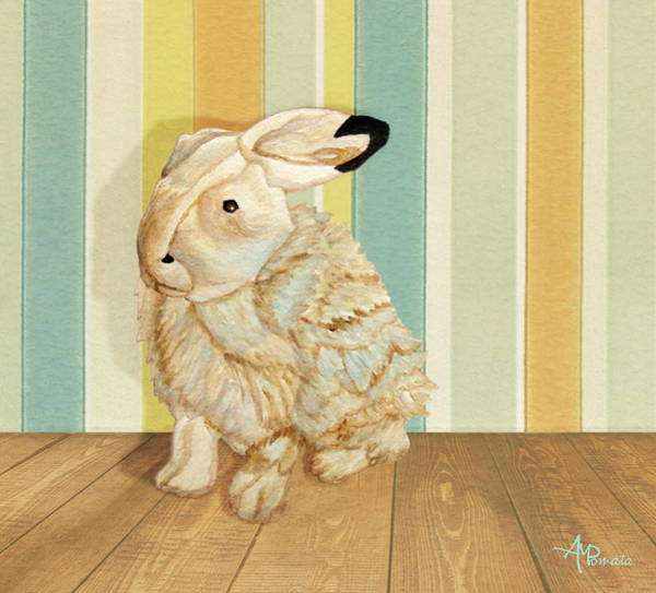 Painting - Arctic Hare In The Playroom by Angeles M Pomata