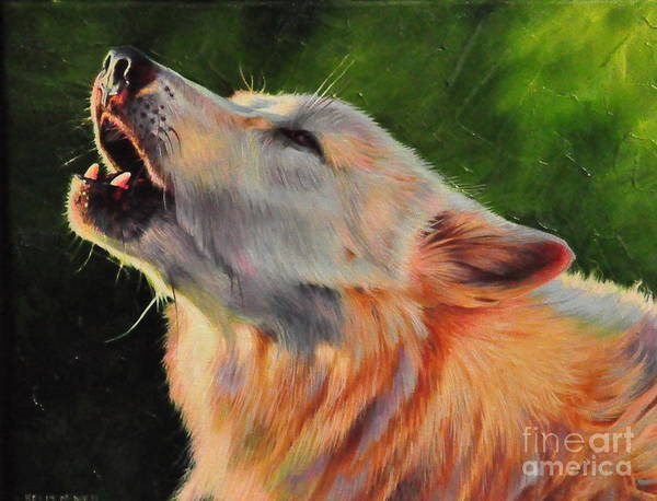 Arctic Wolf Painting - Arctic Howl by Kelly McNeil