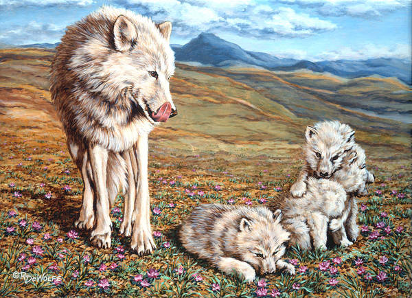 Arctic Wolf Painting - Arctic Summer by Richard De Wolfe