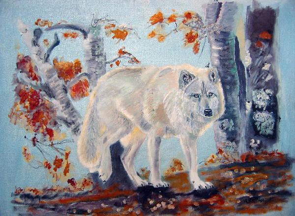 Painting - Arctic Wolf by Richard Le Page