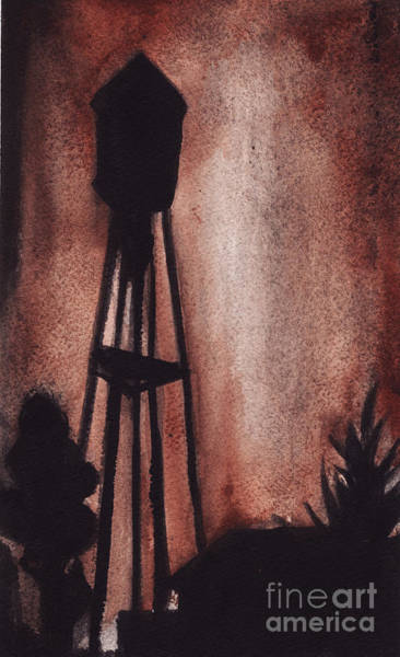 Painting - Ardmore Watertower by Ron Erickson