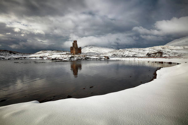 Wall Art - Photograph - Ardvreck Castle In Winter by Grant Glendinning