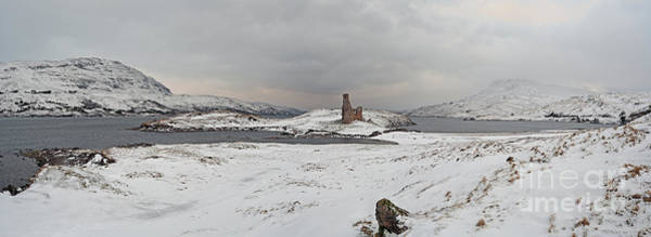 Photograph - Ardvreck Castle In Winter - Panorama by Maria Gaellman