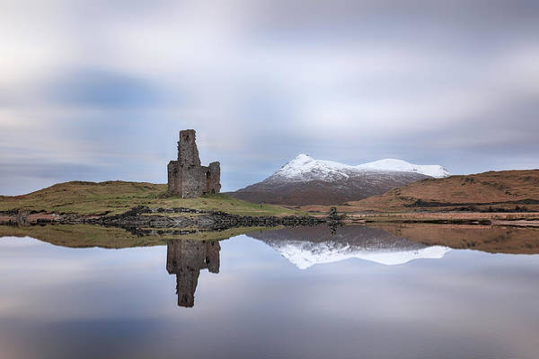 Wall Art - Photograph - Ardvreck Castle Reflection by Grant Glendinning