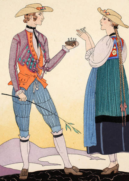 Plaits Painting - Are They Nice by Georges Barbier