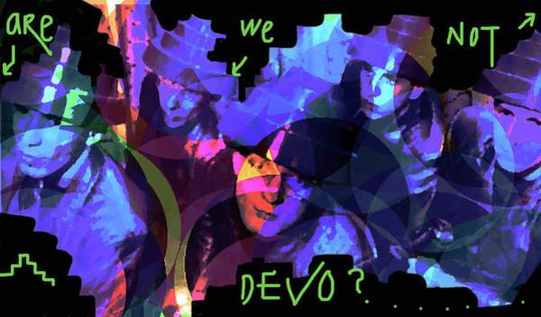 Iggy Pop Painting - Are We Not Devo by Enki Art