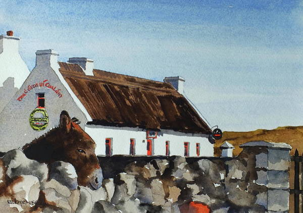 Painting - Are You Going For A Pint by Val Byrne