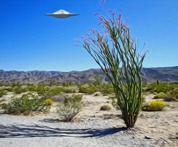 Painting - Area 51 U.f.o. Sighting  by Gregory Dyer