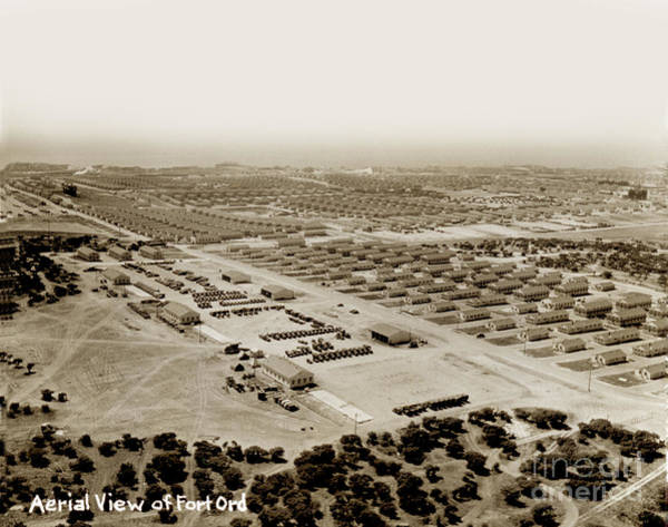 Photograph - Areial View Of Fort Ord Looking Towards Monterey Bay  Circa 1945 by California Views Archives Mr Pat Hathaway Archives