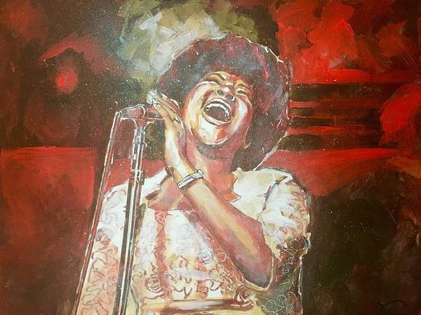 Painting - Aretha Franklin by Joel Tesch