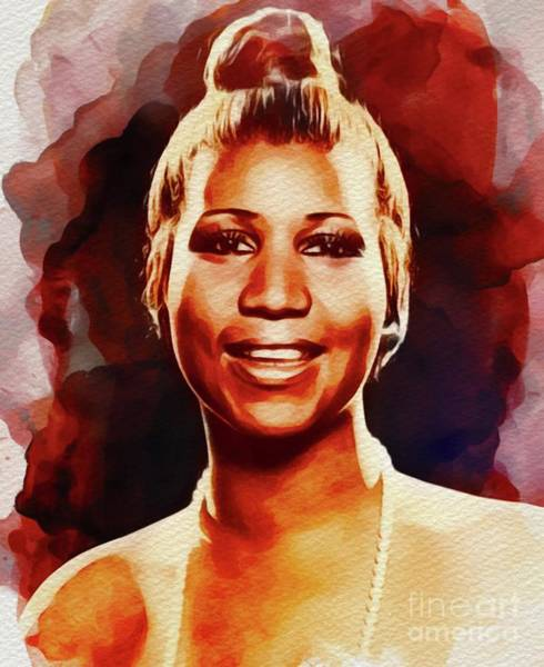John Singer Painting - Aretha Franklin, Music Legend by John Springfield