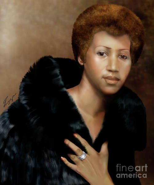 Painting - Aretha Franklin Once Upon A Queen by Reggie Duffie