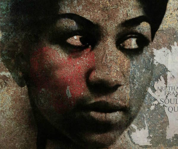 Wall Art - Digital Art - Aretha Franklin - Tribute by Paul Lovering