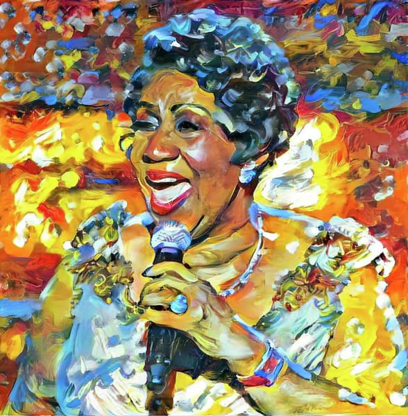 Aretha Franklin Tribute Portrait Art Print