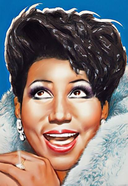 Digital Art - Aretha Queen Of Soul by Karen Showell