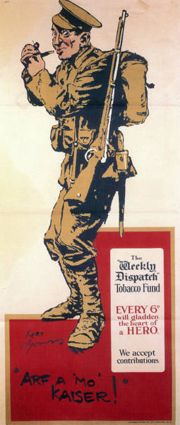 Product Mixed Media - Arf A Mo Kaiser - The Weekly Dispatch Tobacco Fund - Vintage Advertising Poster by Studio Grafiikka