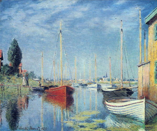 Wall Art - Painting - Argenteuil Yachts 02 by Claude Monet
