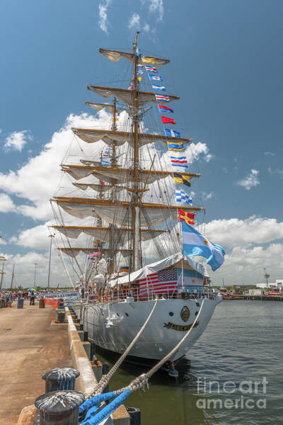Photograph - Argentine Navy Tall Ship by Dale Powell