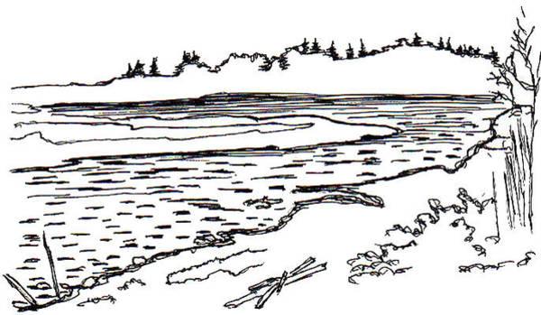 Beach Grass Drawing - Argyle Bay by Elizabeth Thorstenson