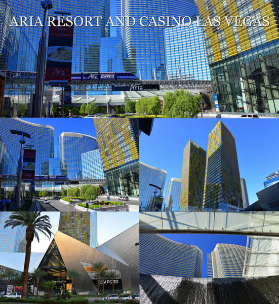 Wall Art - Photograph - Aria Resort And Casino Poster A by David Lee Thompson