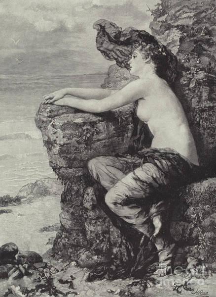 Nymph Drawing - Ariadne  by Henrietta Rae