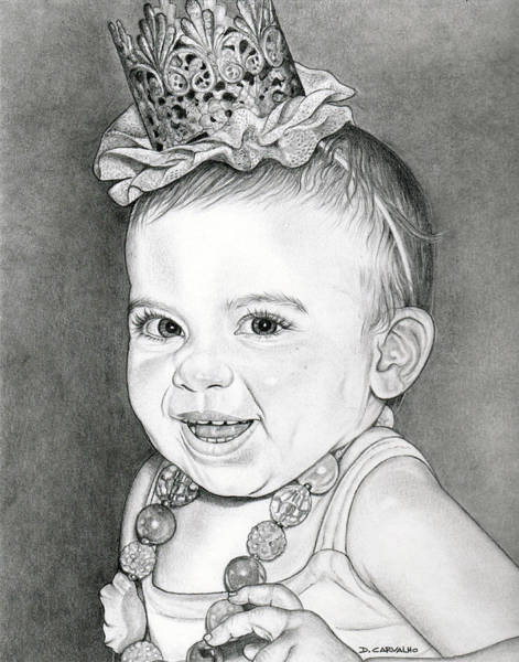 Drawing - Arianna by Daniel Carvalho