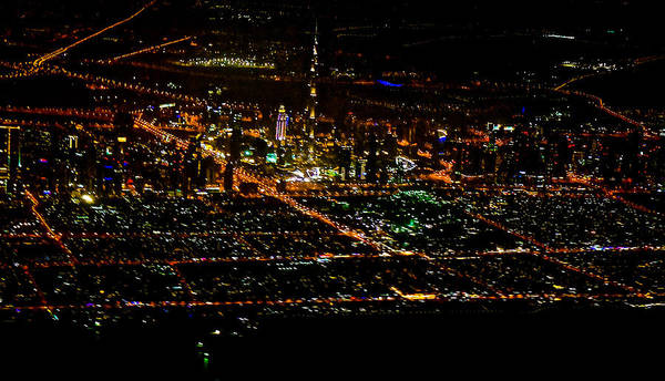 Wall Art - Photograph - Aerial View Of Dubai City by Art Spectrum