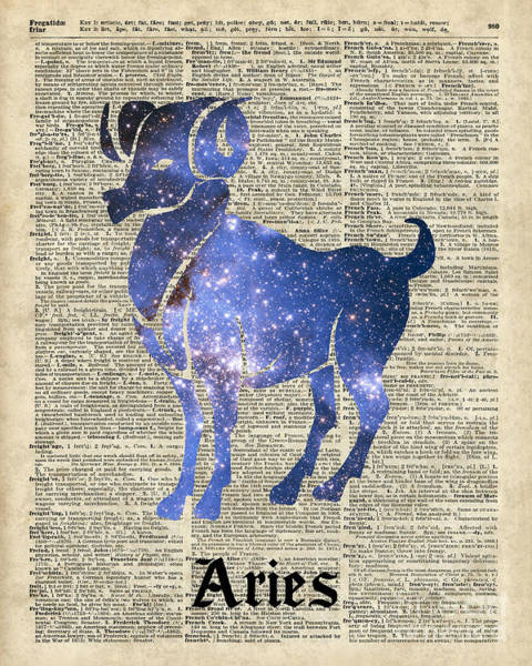Wall Art - Digital Art - Aries Ram Zodiac Sign by Anna W