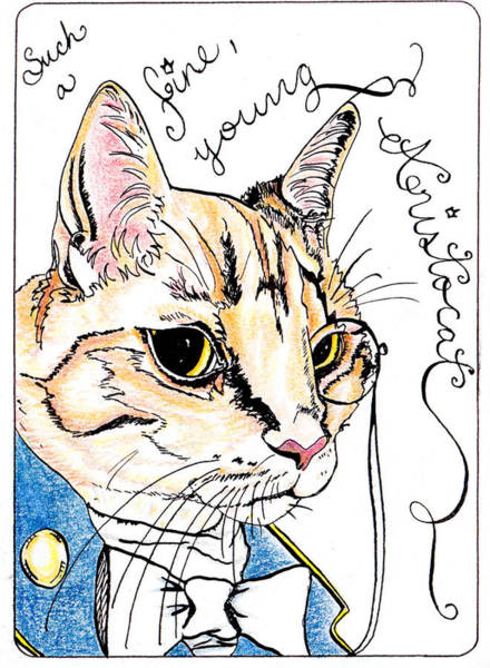 Orange Tabby Drawing - Aristocat by Jessica Bruhn-Moisik