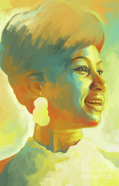 Wall Art - Painting - Aretha Franklin The Queen Of Soul Artwork 1 by Sheraz A