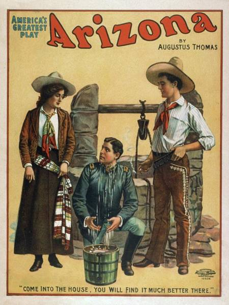 Wall Art - Mixed Media - Arizona Americas Greatest Play 1907 by Movie Poster Prints