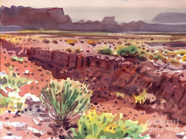Butte Painting - Arizona Arroyo by Donald Maier