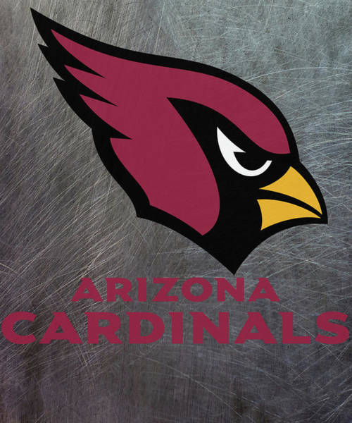 Mixed Media - Arizona Cardinals On An Abraded Steel Texture by Movie Poster Prints