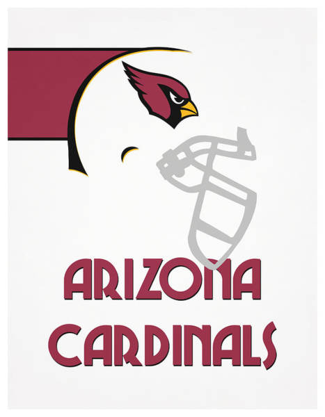 Cardinal Mixed Media - Arizona Cardinals Team Vintage Art by Joe Hamilton