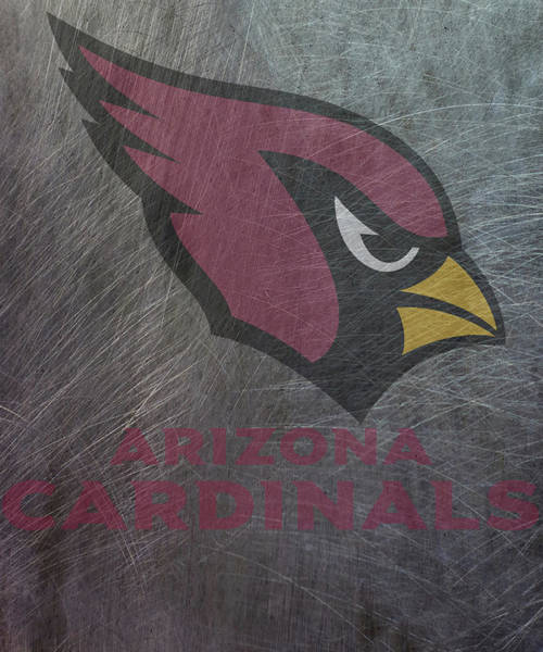 Mixed Media - Arizona Cardinals Translucent Steel by Movie Poster Prints