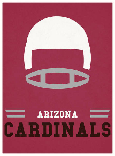 Cardinal Mixed Media - Arizona Cardinals Vintage Nfl Art by Joe Hamilton