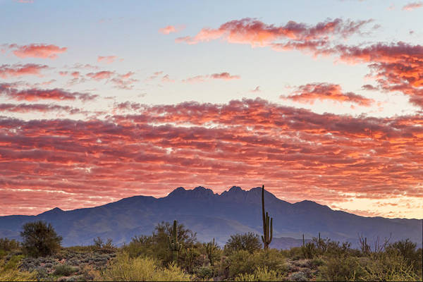 Photograph - Arizona Four Peaks Mountain Colorful View by James BO Insogna