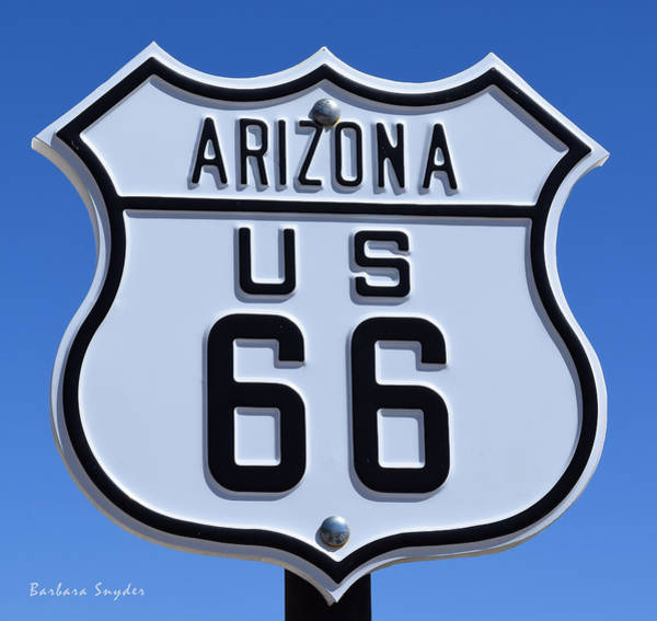 Painting - Arizona Highways Route 66 Photo by Barbara Snyder