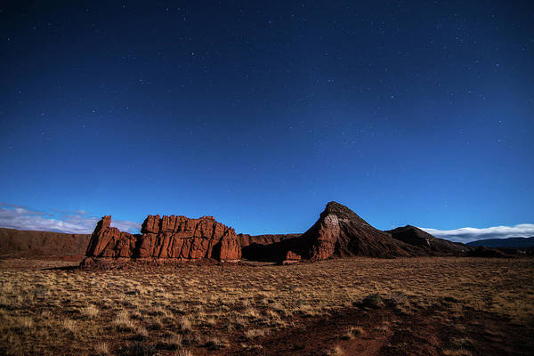Photograph - Arizona Landscape At Night by Todd Aaron