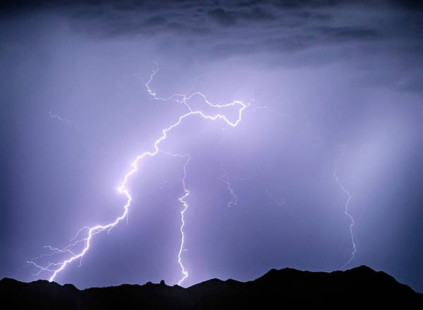Photograph - Arizona Mcdowell Mountains Electrical Discharge by James BO Insogna
