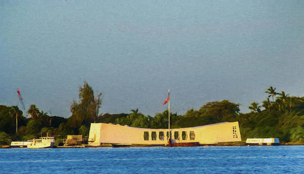 Respect Digital Art - Arizona Memorial Digital Painting by Randy Herring