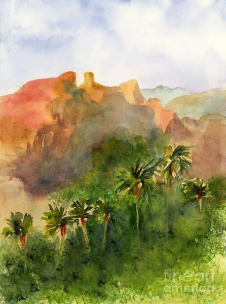 Bluffs Painting - Arizona Palms by Amy Kirkpatrick