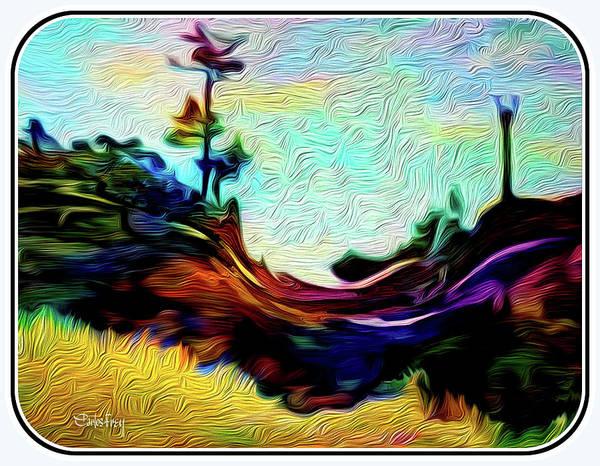 Prairie View Digital Art - Arizona Rocky Landscape by Carlos Frey