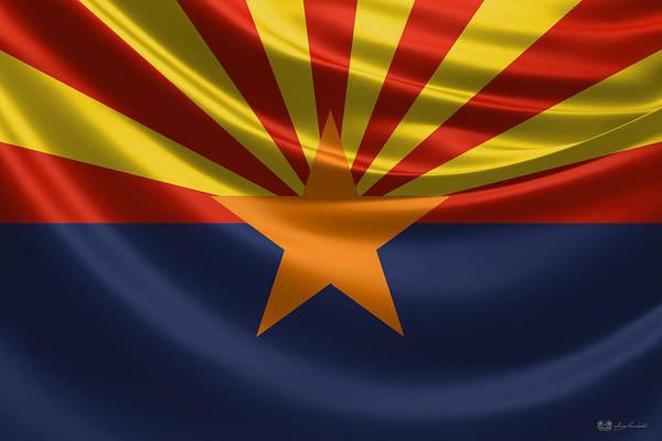 Digital Art - Arizona State Flag by Serge Averbukh