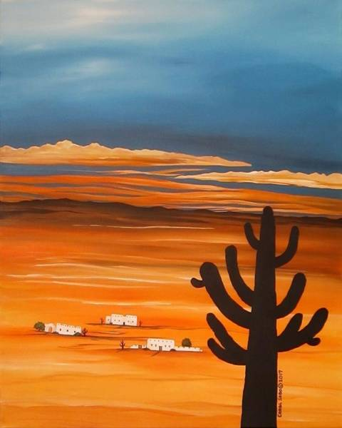 Wall Art - Painting - Arizona Sunset by Carol Sabo