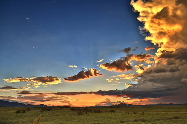 Photograph - Arizona Sunset Storm by James Menzies