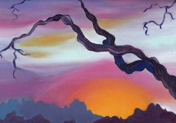 Leclair Painting - Arizona Sunset by Suzanne  Marie Leclair