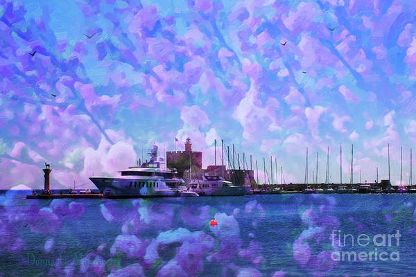 Digital Art - Ark And Plum Blossom by Donna L Munro