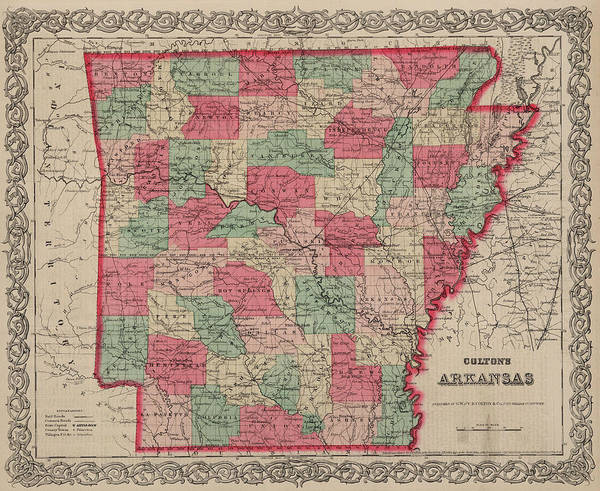 Wall Art - Painting - Arkansas by Colton