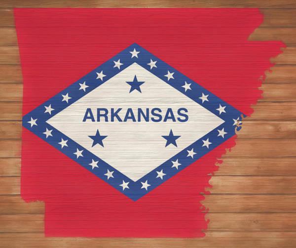 Arkansas Mixed Media - Arkansas Rustic Map On Wood by Dan Sproul
